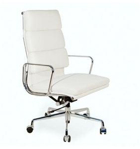 Buy Replica White Eames 318a High Back Leather Softpad Office Chair GraysOn