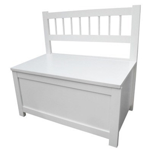 buy kids storage toy box bench seat white graysonline australia. Black Bedroom Furniture Sets. Home Design Ideas