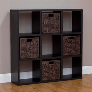 9 Cube Storage Shelf Black