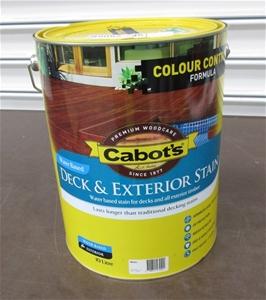 10 Litre Cabots Deck Exterior Stain Merbau Auction 0034 3128704 Graysonline Australia