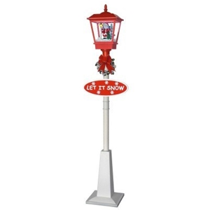 christmas 18m snowing street lamp red and white